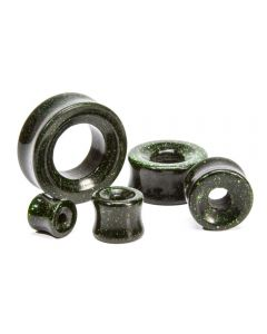 Green Gold Stone Double Flare Hollow Plug