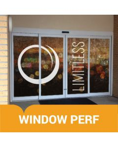 Perforated Window Film - Send Us Your Art