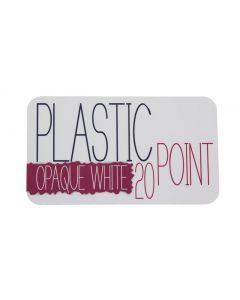 Opaque Plastic Specialty Business Cards – Example 1