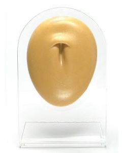 Silicone Belly Button Display - Tan Body Bit Version 1