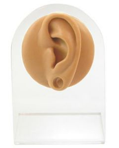 Silicone Plug Left Ear Display - Tan Body Bit Version 1