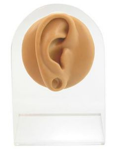 Silicone Plug Right Ear Display - Tan Body Bit Version 1
