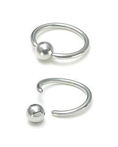 12g Annealed Stainless Steel Captive Bead Ring