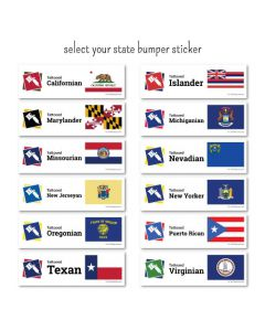 Tattooed Pride State Bumper Stickers Qty 1–49 — Pick Your State (Thumbnail)