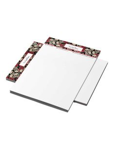 "Stationery — 8.5"" x 11"" — Choose Your Background — Red Skulls"