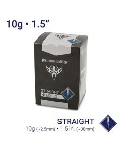"10g Sterilized 1.5"" Body Piercing Needles — Box of 50"