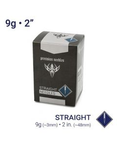 "9g Sterilized 2"" Body Piercing Needles — Box of 50"