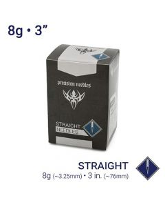 "8g Sterilized 3"" Body Piercing Needles - Box of 50"