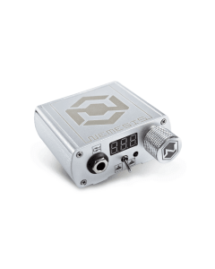 Nemesis Professional Tattoo Power Supply in Silver by Kwadron Silver