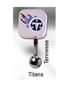 "14g 7/16"" NFL Reverse Top Down Belly Button Ring – Tennessee Titans"