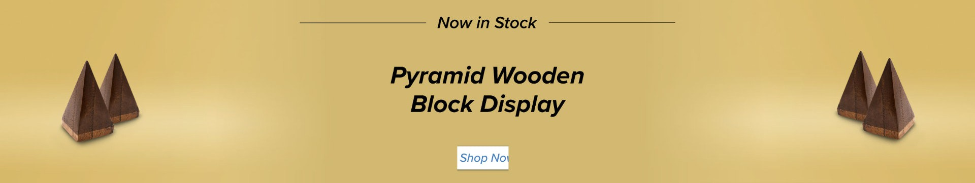 Pyramid Wooden Block
