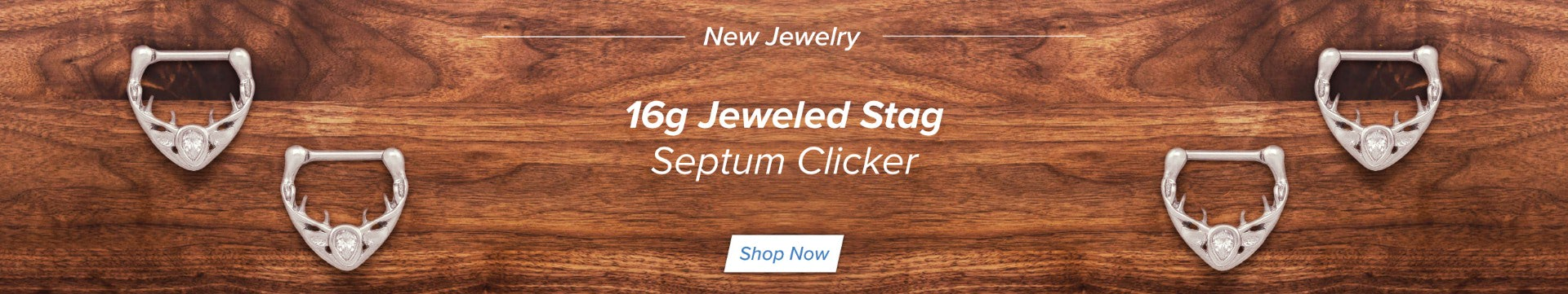 16g Jeweled Stag Septum Clicker