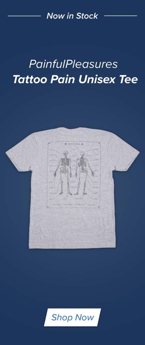 PainfulPleasures Pain Chart Tee Shirt